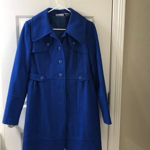 Royal blue long pea coat